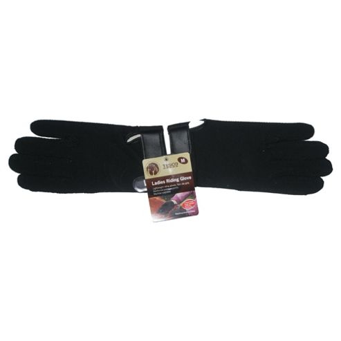 Tesco ladies black riding gloves size medium