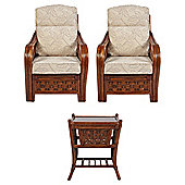 Santiago Chairs x 2 & Lamp Table Conservatory Set