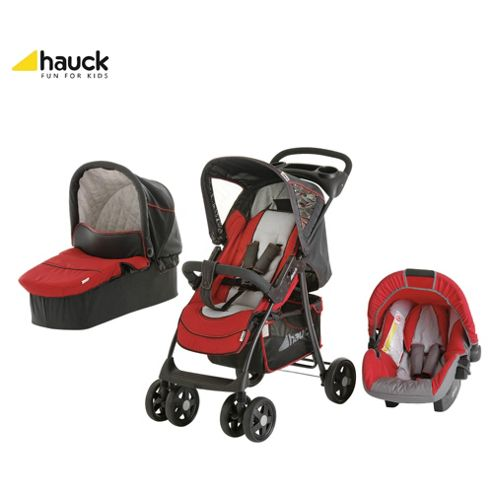 Hauck Shopper Trioset Travel System, Red