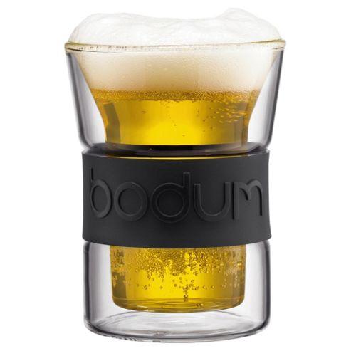 Bodum Presso Set of 2 0.2L Double Walled Glasses, Black