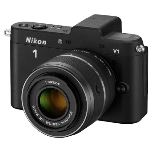 Nikon 1 V1 CoMPact System Camera - Black, 10-30mm Lens Kit 3