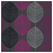 Arthouse Retro Leaf Pink Wallpaper