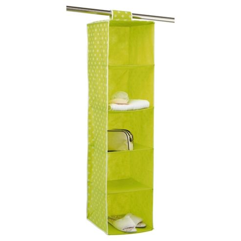 Pois Ordinatore 5 Shelf Hanging Unit Green