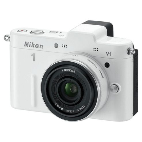 Nikon V1 Digital Camera, White, 10.1MP, 3.0 inch LCD Screen
