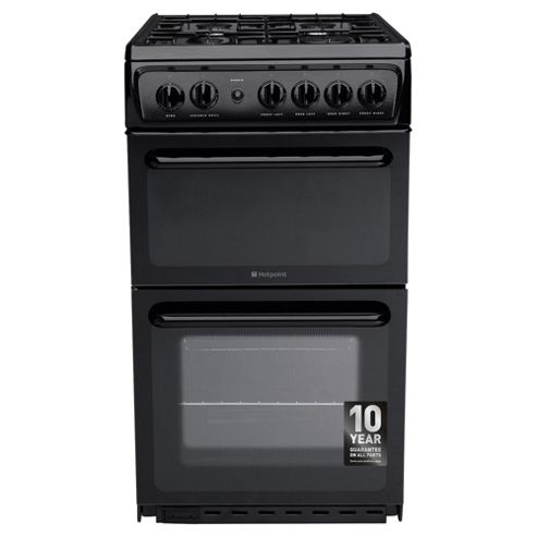 Hotpoint Gas Cooker, HAG51K, Black