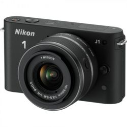 Nikon 1 J1 Compact System Camera - Black (10-30mm Lens Kit) 3 inch LCD Screen