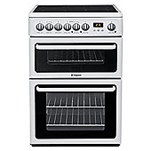 Hotpoint Hae60P Ceramic Double Oven Electric Cooker