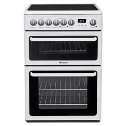 Hotpoint Hae60P White Ceramic Dbl Oven Electric Cooker