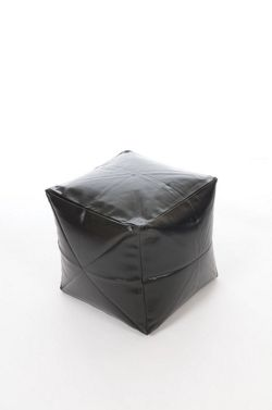 Kaikoo Faux Leather Cube, Black