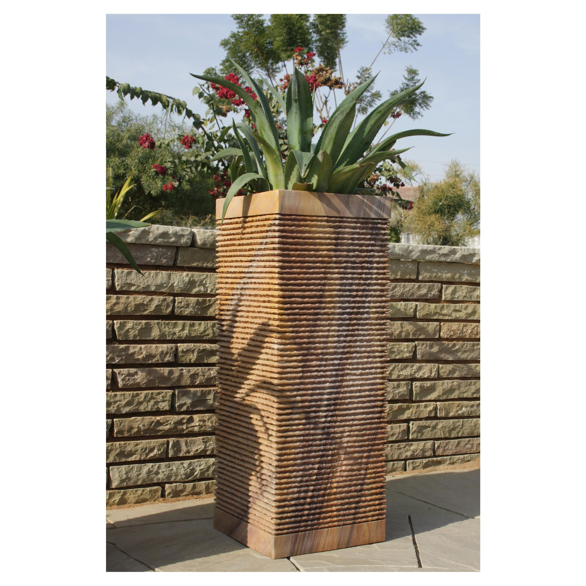 Caelum Rainbow Stone Planter 80cm at Tesco Direct