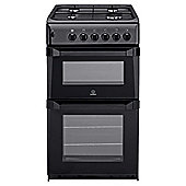 Indesit IT50GA anthracite gas twin cooker
