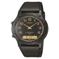 Casio AW49H/1B Men's Dual Time Watch - Black