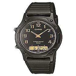 Casio Men's Dual Time Watch Black
