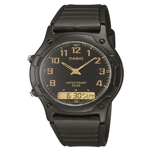 Casio Men's Dual Time Watch Black