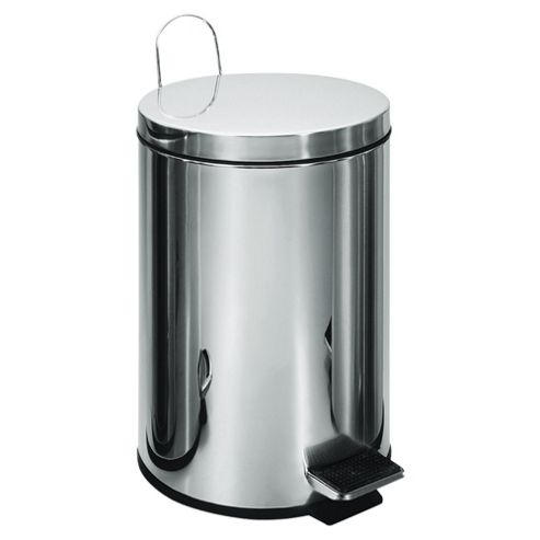 Tesco 3L Stainess Steel Pedal Bin with Stainless Steel Lid