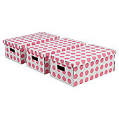 Pois boxes set, 3 piece pink