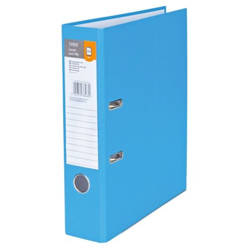 Tesco A4 Lever Arch File, Blue, 5 Pack