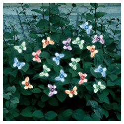 20 Solar Colour Changing Butterfly String Lights