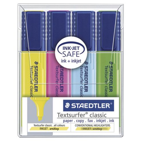 Staedtler Textsurfer Highlighters, 4 Pack