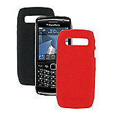 Pro-Tec Flex BlackBerry Stratus Twin Pack Skins Black/Red