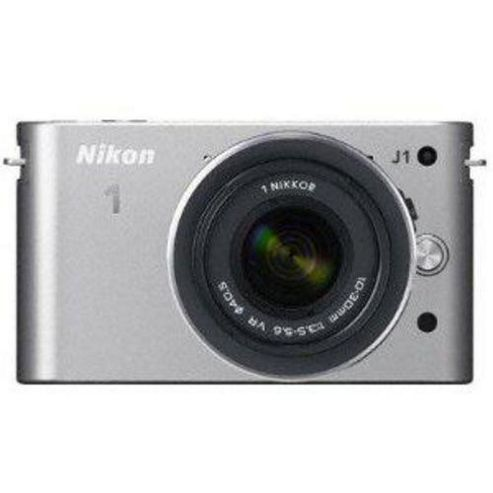 Nikon 1 J1 Digital Camera, Silver, 16MP, 26x Optical Zoom, 3.0