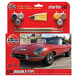 Airfix Jaguar E-Type 1:32 Scale Starter Model Set