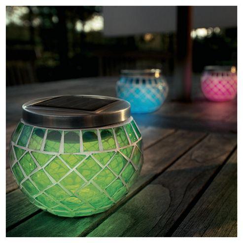 4 Solar Mosaic lanterns