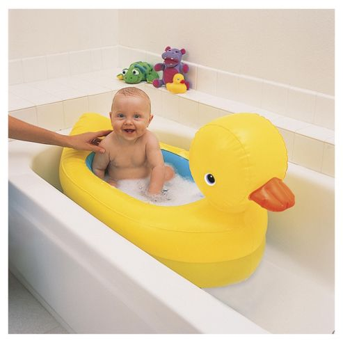 Munchkin White Hot Inflatable Duck Bath Tub