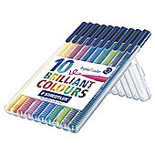 Staedtler Triplus Colour Fibre Tips, 10 Pack
