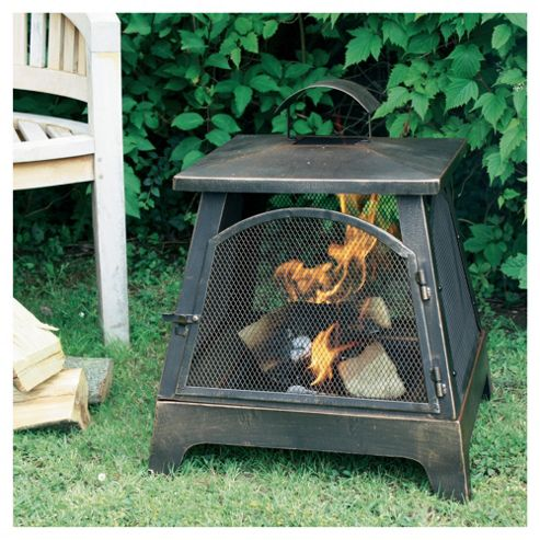 La Hacienda Square Fireplace Bronze