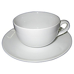 Super White Porcelain Cup & Saucer