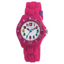 Tikkers Pink Silicon Girls Watch