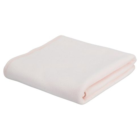 Tesco Loves Baby Fleece Blanket Moses/Crib, Pink