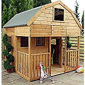 Mercia Dutch Barn Playhouse with Veranda, 7ft x 7ft