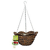 Water Hyacinth Hanging Basket With Wavy Rim