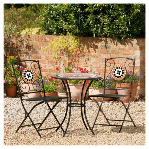 Palma Bistro Set Brown