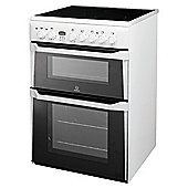 Indesit ID60C2A Anthracite Ceramic DBL Oven Electric Cooker