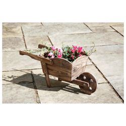 Wooden Wheelbarrow Planter..
