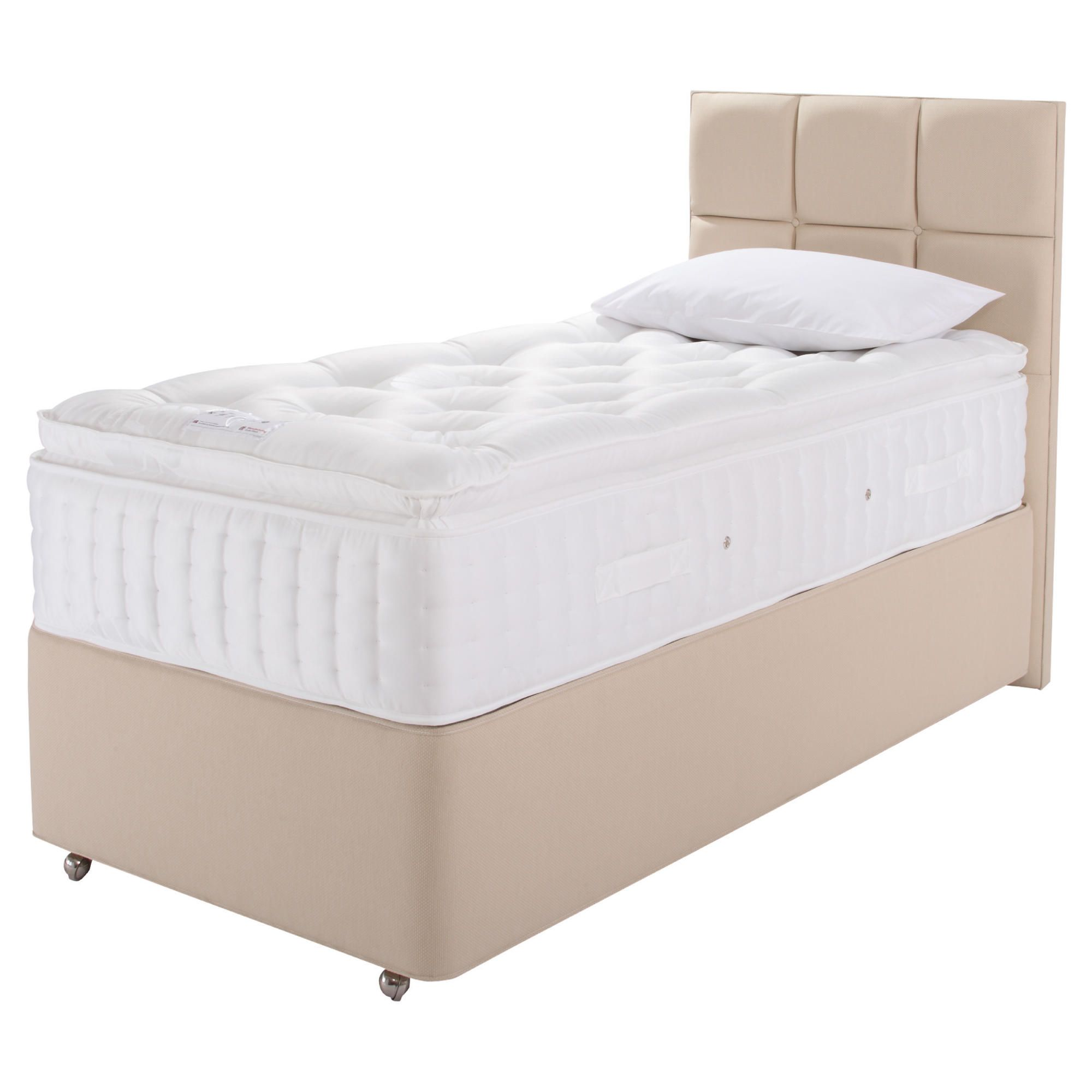 Relyon Luxury 2200 Non Storage Divan Bed Single at Tesco Direct