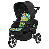 Obaby Xi Tandem With Lime Stripe Reversible Liner