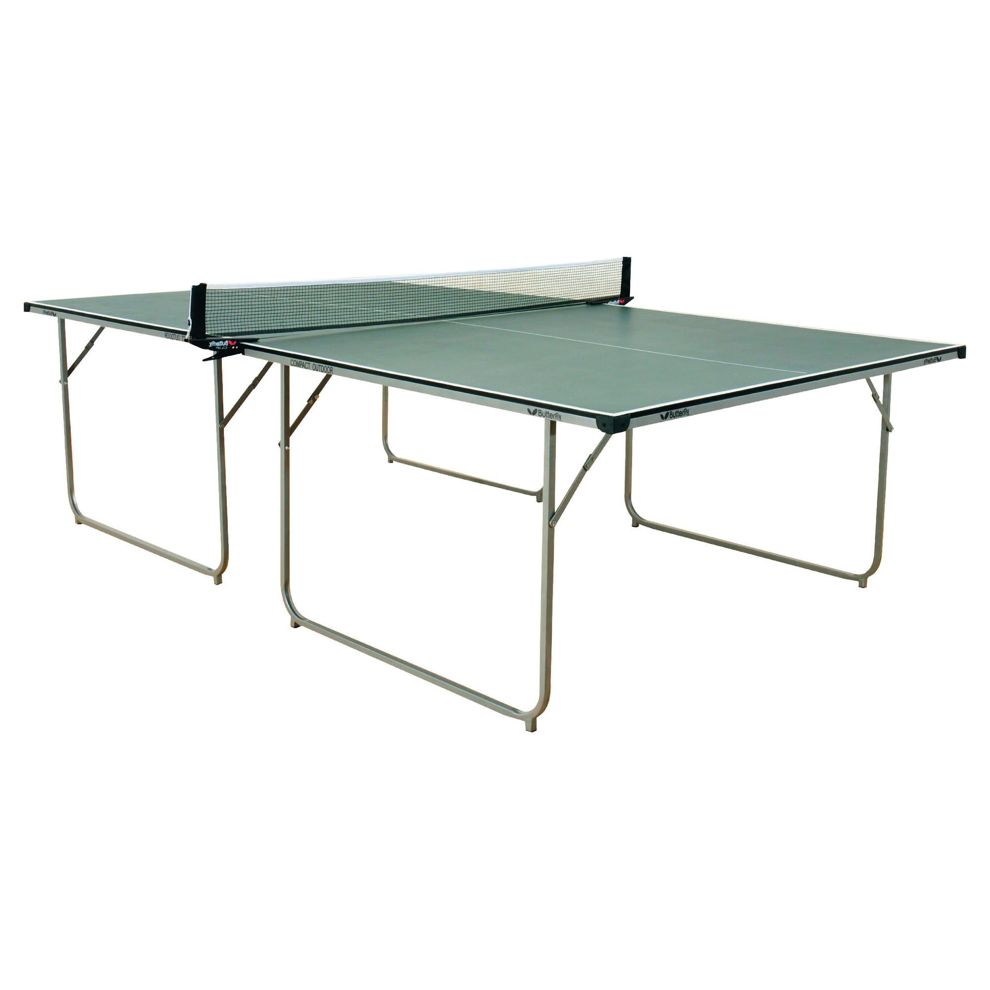 Butterfly Compact Outdoor Table Tennis Table - Green at Tesco Direct