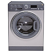 Hotpoint Ultima WMUD 962 G Washing Machine, 9kg Wash Load, 1600 RPM Spin, A++  Energy Rating. Graphite