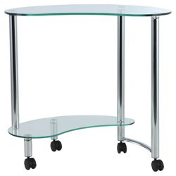Mercury Corner Computer Trolley, Clear