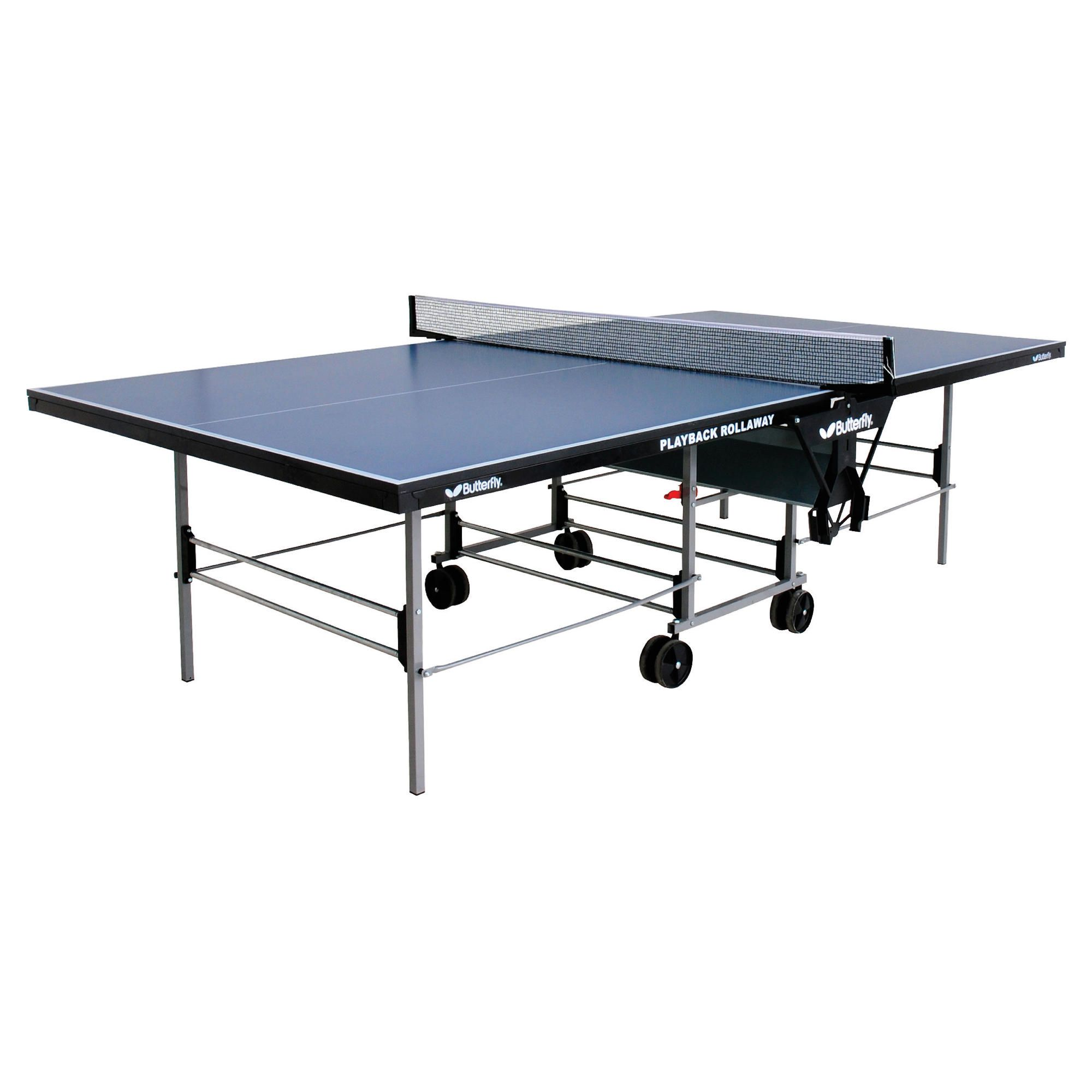 Butterfly Playback Rollaway Table Tennis Table - Blue at Tescos Direct