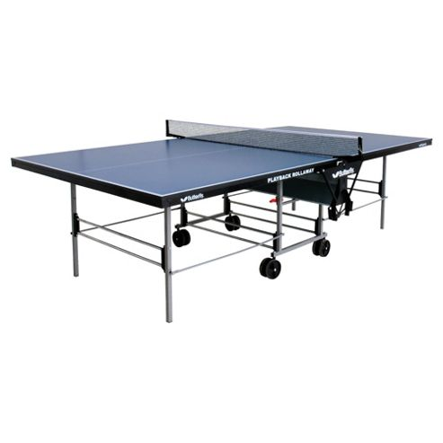 Butterfly Playback Rollaway Table Tennis Table - Blue