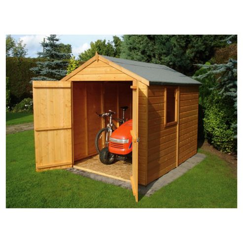 Buy finewood warwick double door shiplap shed 8x6 from our for Garden shed tesco