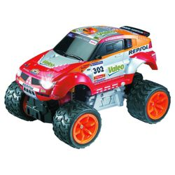Auldey Mitsubishi 2006 Dakar Pajero Evolution Rally 1:28 Red RC Toy Car