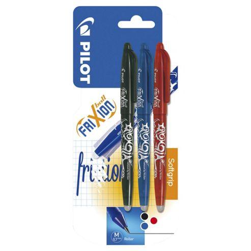 Pilot Frixion Erasable Pens, Assorted, 3 Pack