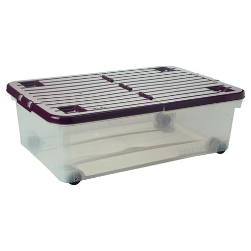 Wham 32L box with wheels, plum