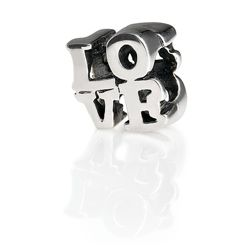 Sterling Silver Love Text Bead